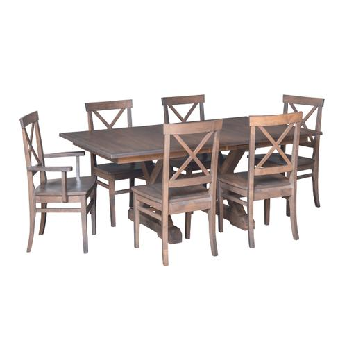 """Country Value Woodworks - 52"""" Crossway Dining Set"""
