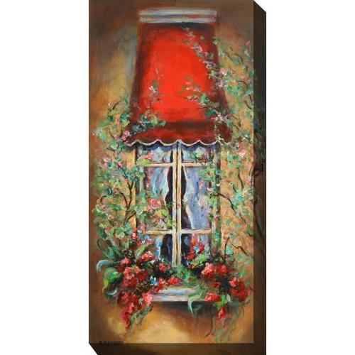 Outdoor Canvas Art - Red Canopy 24 x 48