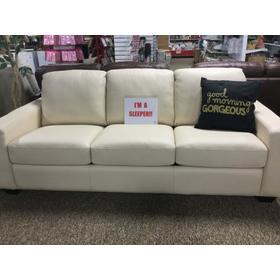 Sleeper Possibilities Leather Track Arm Sofa