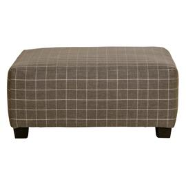 See Details - Farmhouse Casual Cocktail Ottoman Charcoal