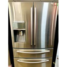 USED- 23 cu. ft. Counter Depth 4-Door Refrigerator Stainless Steel- FD4SS36-U SERIAL #1