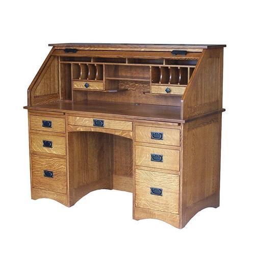 Amish Furniture - Mission Rolltop Desk