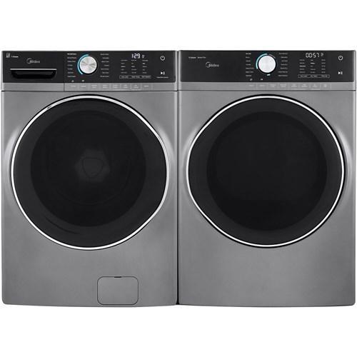 5.2 CF Front Load Washer, Inverter - Graphite; 8.0 CF Electric Dryer, Steam - Graphite