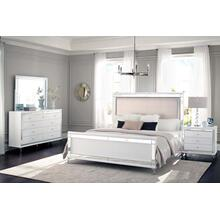 Eastern King Bed Metallic White