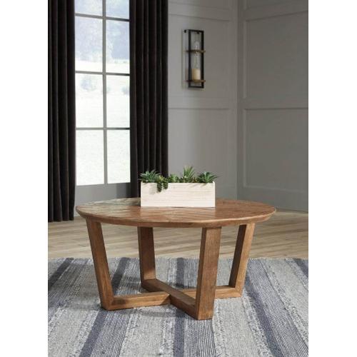Ashley Furniture - ASHLEY T832-8 Kinnshee Brown Occasional Coffee Table