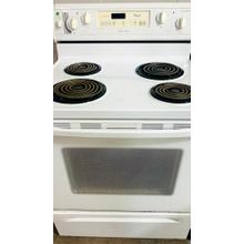 USED White 30-Inch Self-Cleaning Freestanding Electric Coil Range- E30WHCOIL-U  SERIAL #33