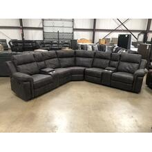 See Details - Reclining Sectional with three Recliners #UJW3000