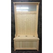 1002 Maine Made Hall Tree With Mirror 38W X 71H X 19D Pine Unfinished