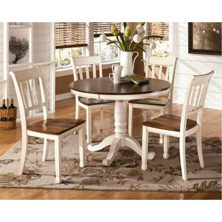 Ashley Whitesburg Brown/Cottage White Collection Dining Room Set