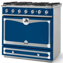 Royal Blue Albertine 90 with Polished Chrome Accents