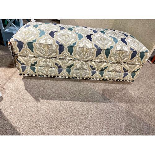 Bassett Furniture - Storage Cocktail Ottoman in Hydrangea Tapestry
