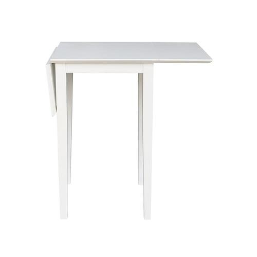 """White 36"""" Dropleaf Table"""