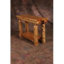 White Cedar Log Sofa Table