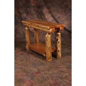 Cozy Creations Collection - White Cedar Log Sofa Table