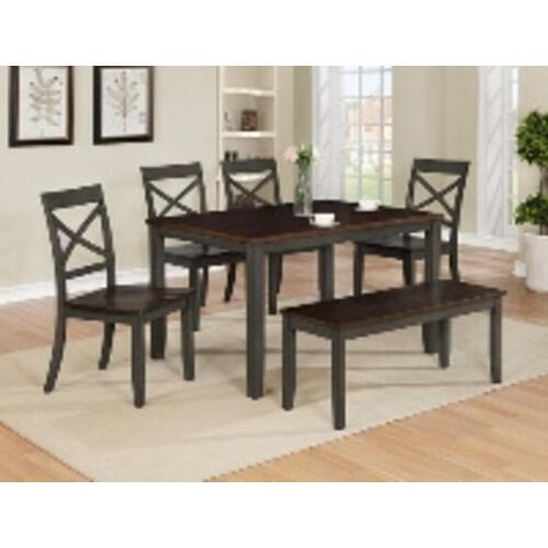 Etta 5pc Dining Room Set Plus Bench