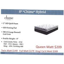 "Ashley 8"" ""Chime"" Hybrid Mattress"