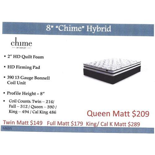 """Ashley 8"""" """"Chime"""" Hybrid Mattress"""