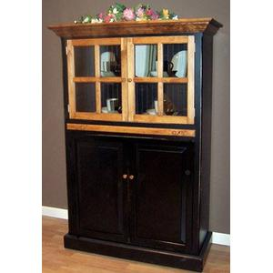 Cottage Cupboard with Glass Doors