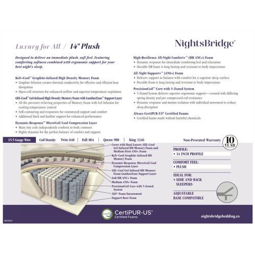 "NightsBridge - 14"" - Plush"