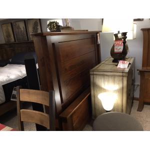 Streamside Wood Shop - Bridgeview Queen Panel Bed Complete in Solid Rustic Cherry