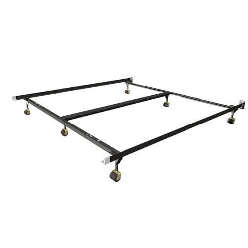 Mantua Queen/King Deluxe Insta-Lock Bed Frame with Rug Rollers