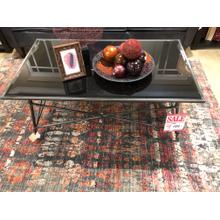 Black/Glass coffee table  $199