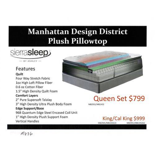 Ashley Manhattan Desigh Plush Pillowtop Mattress by Sierra Sleep