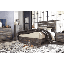Drystan- Multi- 8 pc.- Dresser, Mirror, Chest, Nightstand & Queen Panel Bed