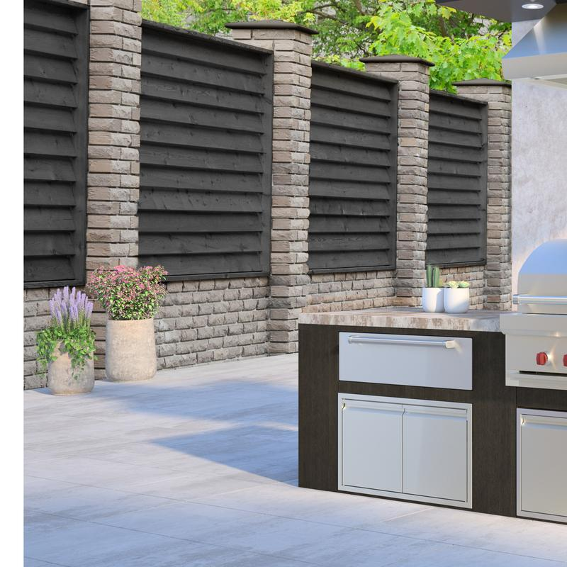 """Epicure 36"""" Built-in Outdoor Grill"""
