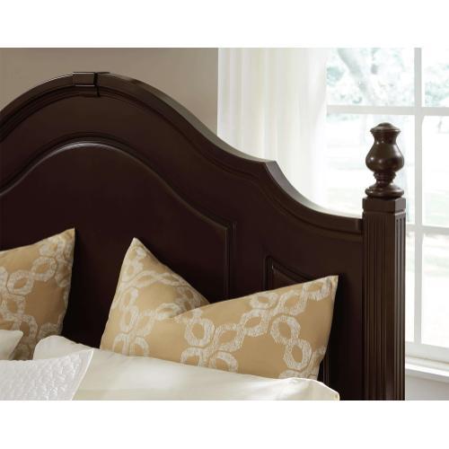 Queen French Market Merlot Poster Bed