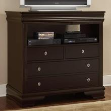 CLEARANCE French Market 4 Drawer Media Console - Antique Merlot