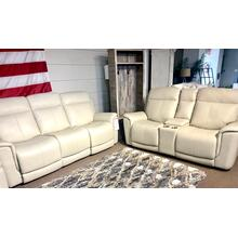 Burbank Laurel Cream Full Power Sofa & Loveseat