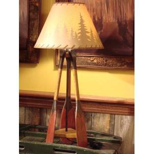 All Resort Furnishings - Canoe Paddle Table Lamp
