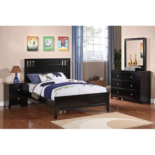 4Pc Full Bed Set