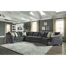 Eltmann - Slate - 4-Piece Sectional with Right Facing Cuddler
