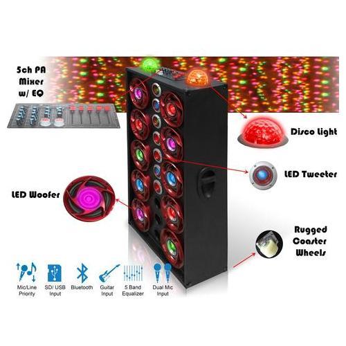 "Technical Pro - XPARTY 10 X 8"" Subwoofer 10,000 Watt Bluetooth Speaker"