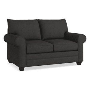 Alex Roll Arm Loveseat - Charcoal