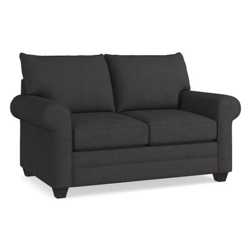 Bassett Furniture - Alex Roll Arm Loveseat - Charcoal