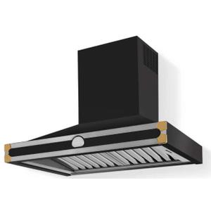 Lacornue Cornufe - Matte Black Albertine 90 Hood with Polished Brass Accents