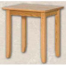 See Details - Oak Shaker End Table