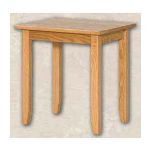 Oak Shaker End Table