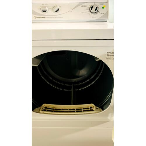 USED- White Dryer (Gas)- GDRYSTANDW29-U   SERIAL #34