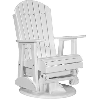 Adirondack Swivel Glider 2' White