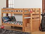 Twin/Twin Bunk Bed w/ Stairs