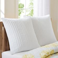 Camila White Quilted Sham