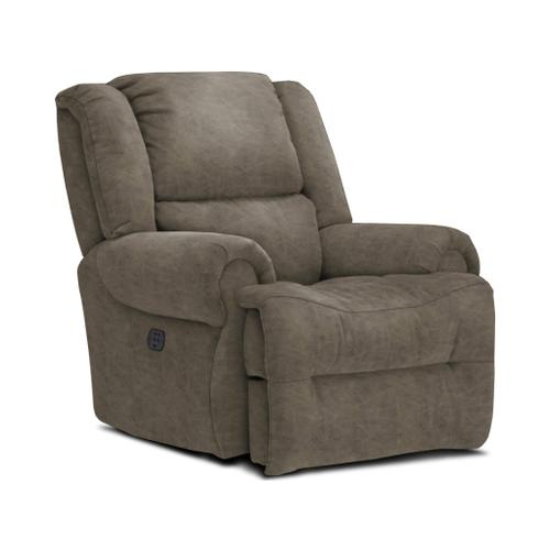 GENET Power Tilt Headrest Rocker Recliner in Grey Signature Series Leather