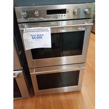 """See Details - Monogram 30"""" Smart Double Electric Wall Oven ZET2SHSS (FLOOR MODEL)"""