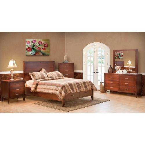 Manhattan - Queen 6 Drawer Bed Leather Headboard