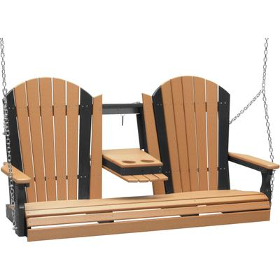 Adirondack Swing 5' Cedar and Black