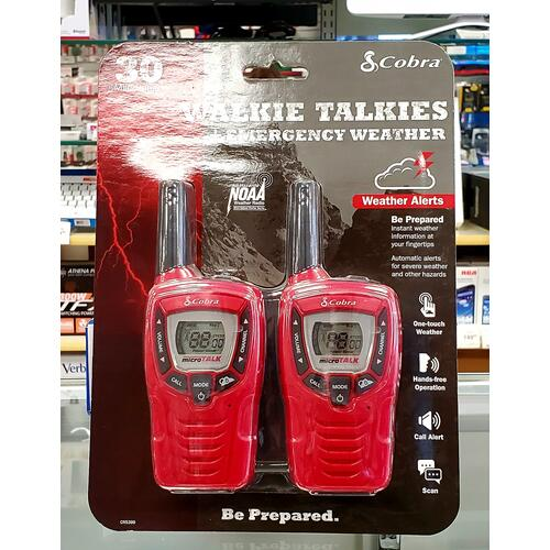 Walkie Talkies and Emergency Weather Radio